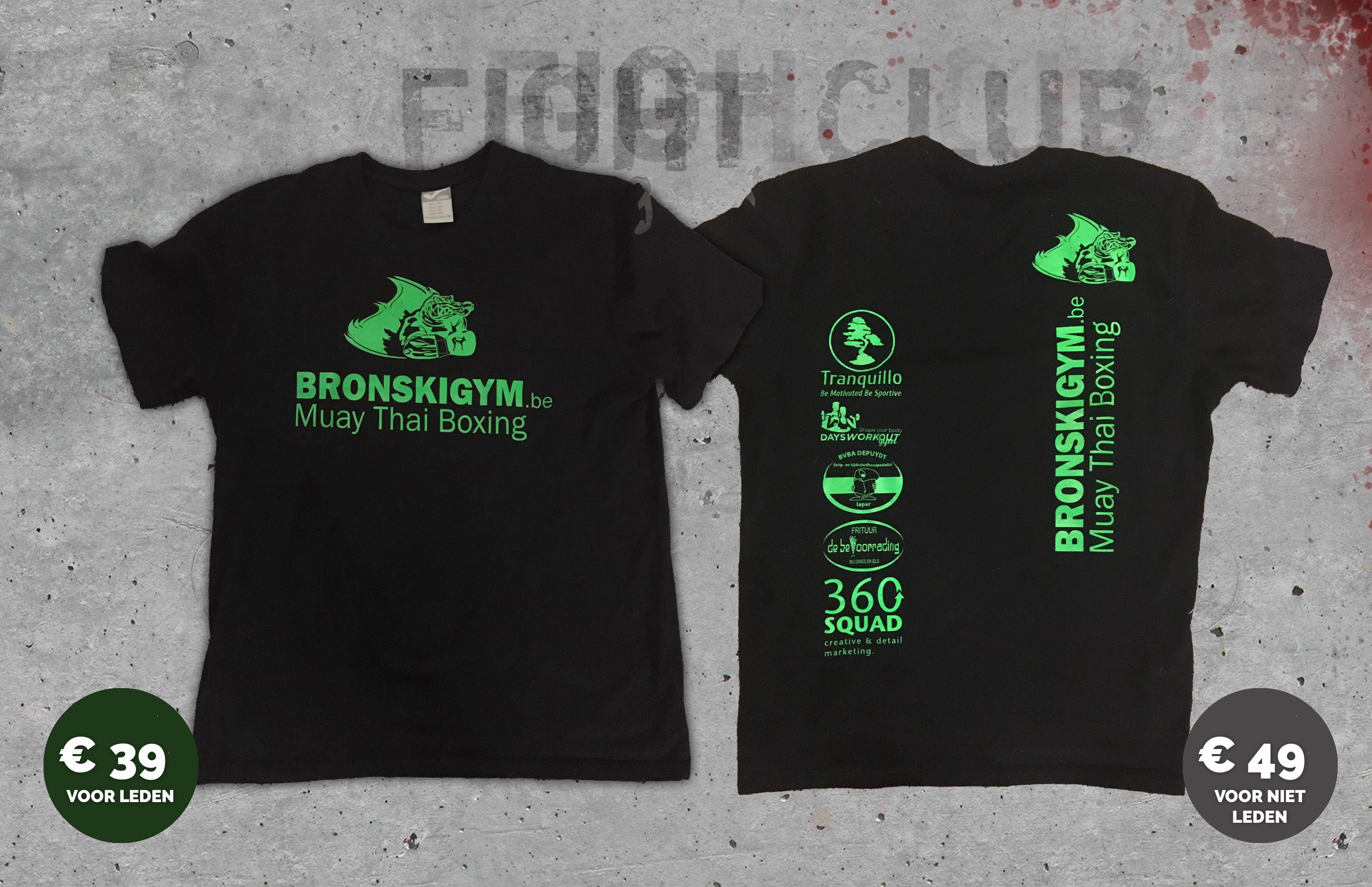 *** De Bronski Gym club T-Shirts is er ***